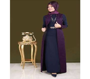 Navy Blue & Purple BMW Borka For Women
