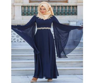 Navy Blue Georgette  Borka For Women