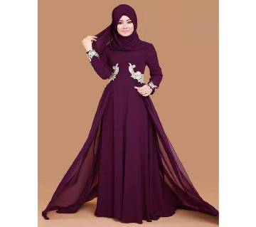 Purple Georgette Borka For Women