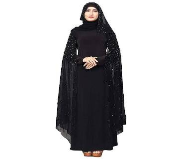 Black Georgette & BMW Borka For Women