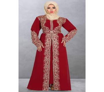 Red Georgette Borka For Women