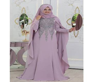 Light Purple Georgette Borka For Woman