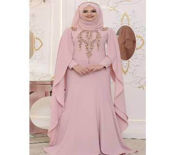Light Pink Georgette  Borka For Women
