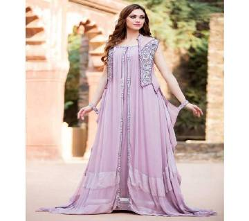 Light Violet Georgette Borka For Women