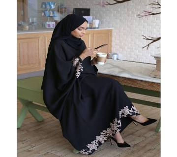 Black Georgette/BMW  Borka For Women