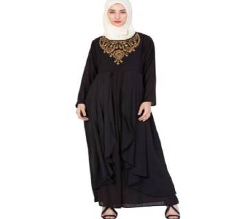 Black Georgette Borka For Women