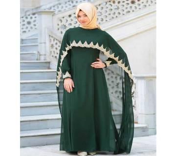 Green  Georgette Borka For Women