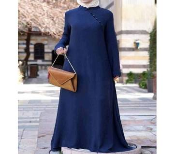 Royal Blue Stitch Jersey Borka For Woman