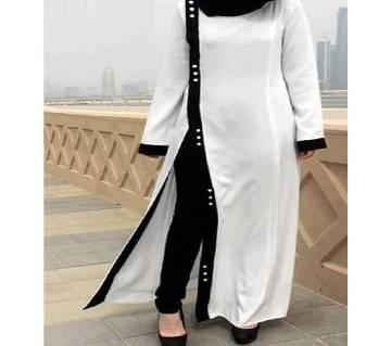 Black & White Stitch Jersey Borka For Woman