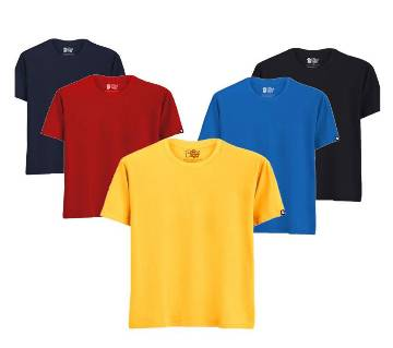 5 Pcs combo Cotton T-shirt