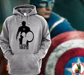 Captain America ফুল স্লিভ জেন্টস কটন হুডি