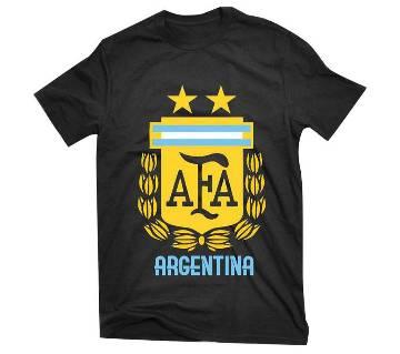 Argentina logo জেন্টস হাফ স্লিভ কটন টি-শার্ট