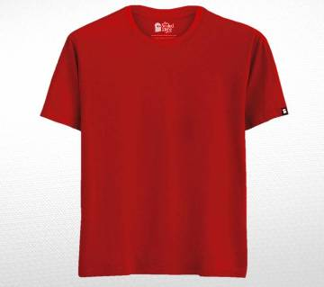 Red Solid Cotton T-shirt