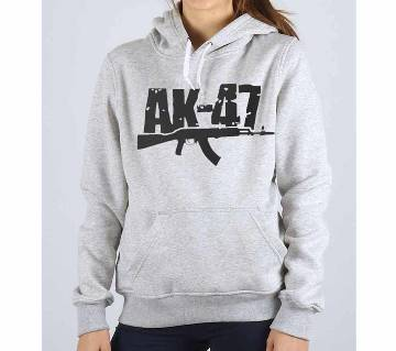 AK47-Grey Melange-Ladies-Hoodie