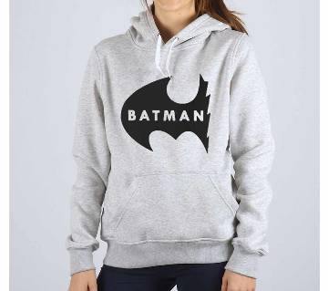 Batman New-Grey Melange-Ladies-Hoodie