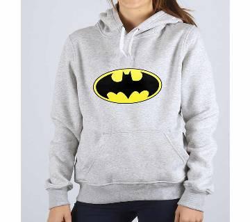 Batman Org-Grey Melange-Ladies-Hoodie