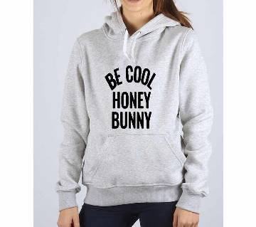 Be Cool-Grey Melange-Ladies-Hoodie