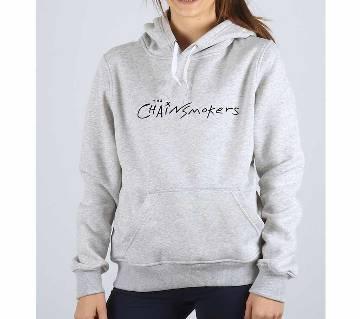 Chainsmoker-Grey Melange-Ladies-Hoodie