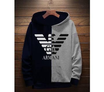 Armani-মেনস হুডি -Black and Ash