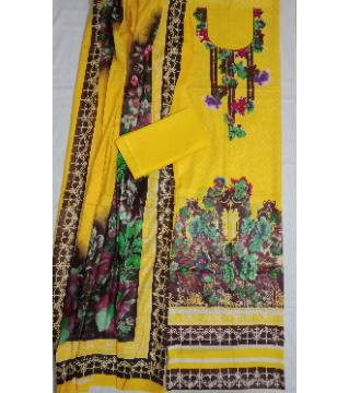 Unstitched Jaipuri Lone Three Pics Yellow
