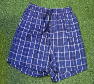 Cotton Boxer For Men - Blue Check