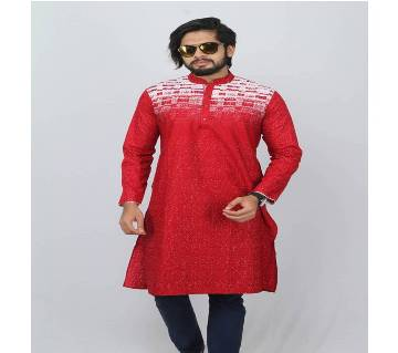 Multi Color Cotton Panjabi For men