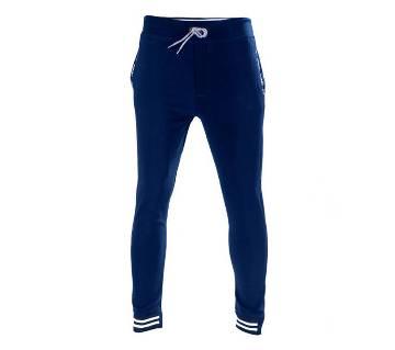 Slim Fit Trousers Joggers Sweats Pants for Mans-BLUE