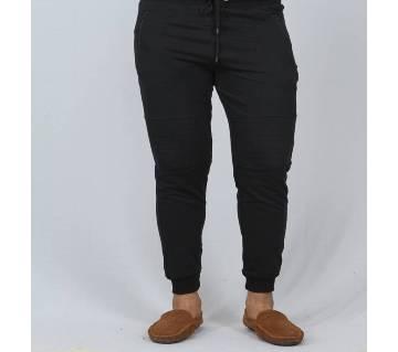 Slim Fit Trousers Joggers Sweats Pants for Mans-black