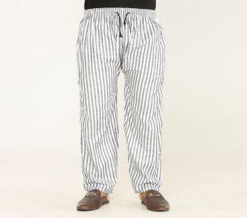 Cotton Multi Color Stripe Trouser For Men
