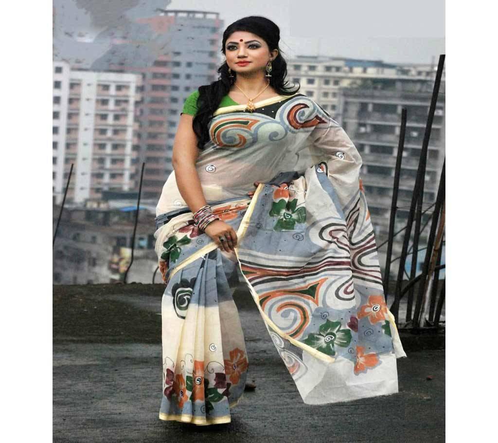 কটন কোটা হ্যান্ড প্রিন্ট শাড়ী বাংলাদেশ - 941168