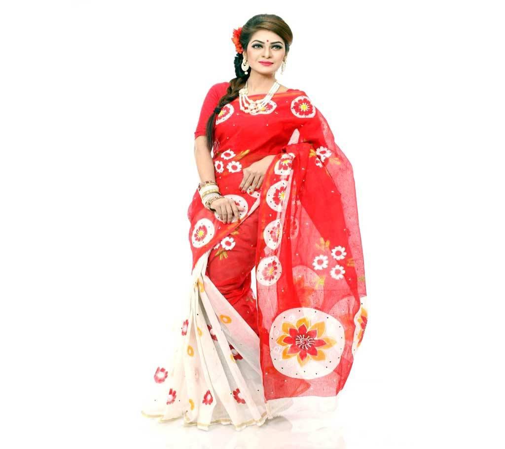 কটন কোটা হ্যান্ড প্রিন্ট শাড়ী বাংলাদেশ - 941180
