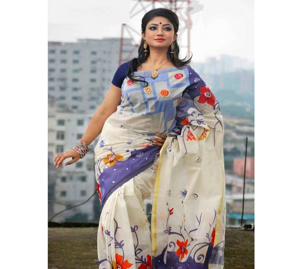 কটন কোটা হ্যান্ড প্রিন্ট শাড়ী বাংলাদেশ - 941185