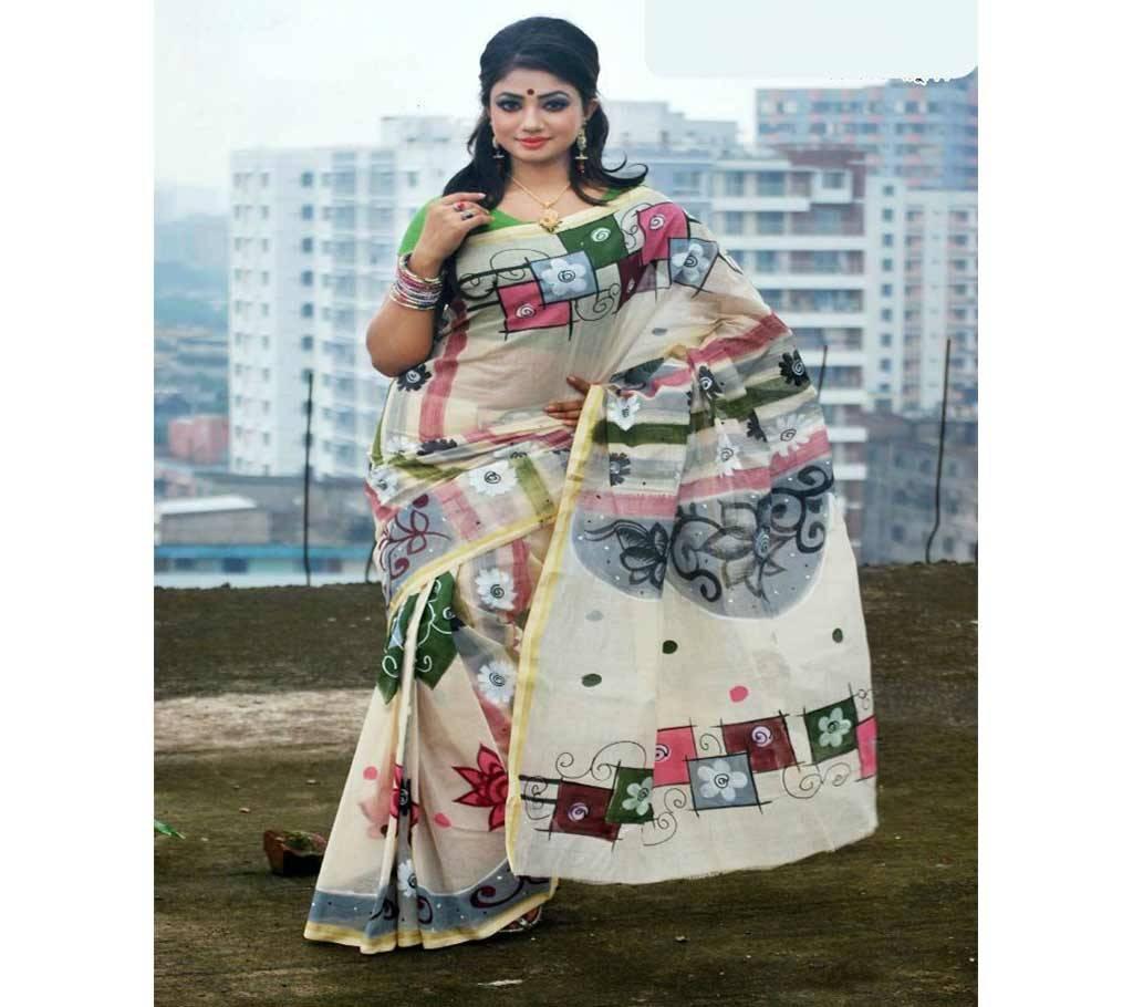 কটন কোটা হ্যান্ড প্রিন্ট শাড়ী বাংলাদেশ - 941194