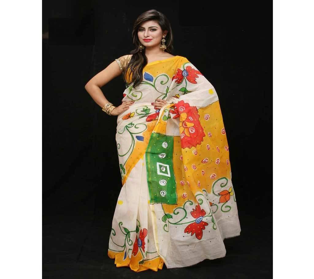 কটন কোটা হ্যান্ড প্রিন্ট শাড়ী বাংলাদেশ - 941206