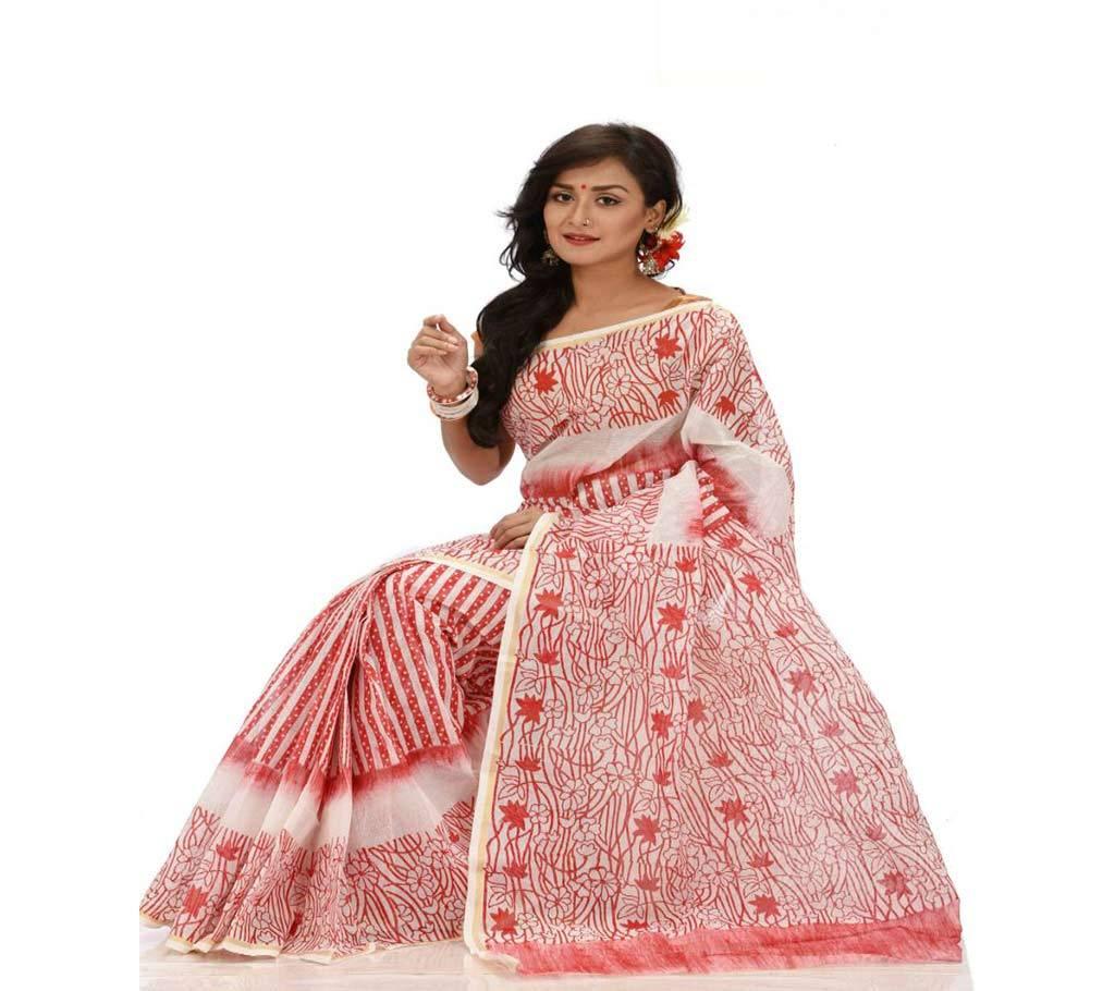 কটন কোটা হ্যান্ড প্রিন্ট শাড়ি বাংলাদেশ - 942828