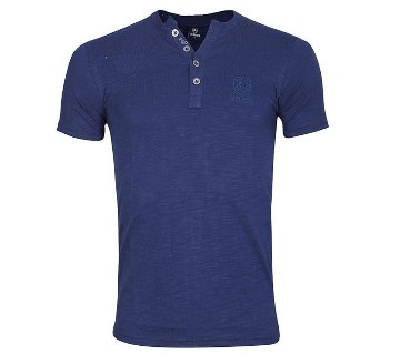 Gents short sleeve V-neck t-shirt