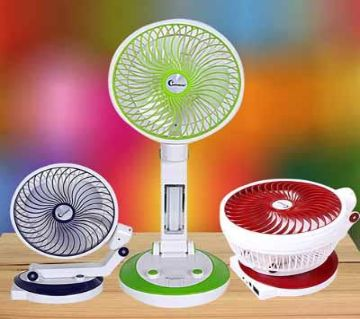 Rechargeable Fan and Light  Multicolor  72  HMS