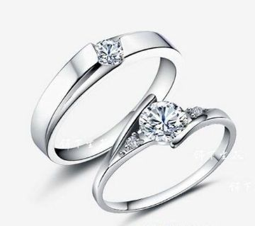 Silver Plated China couple Ring (2pcs)