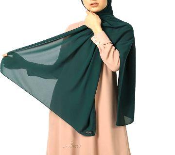 Malaysian Georgette Hijab-Green