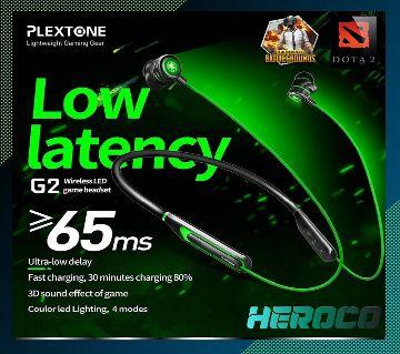 Plextone G2 Virtual 7.1CH Game 3D Sound Effect Gaming Wireless Earphone-Black