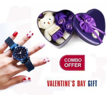 Valentine Day Combo Offer Ladies Watch + Gift Box