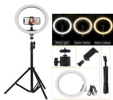 """12"""" Ring Light with Stand & Phone Holder for Live Stream/Makeup, Mini Led Camera Ringlight for YouTube Video/Photography Compatible with iPhone, Andro"""