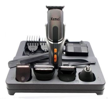 Kemei Km-680A 8 in 1 Rechargeable Shavers and Trimmers - Silver