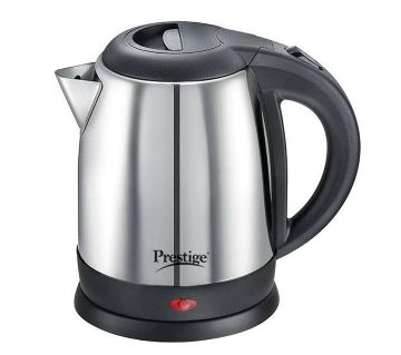 Prestige Stainless Steel Electric Kettle - 1.8 L - Silver and Black