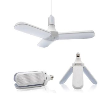 LED BULB FAN WITH CEILING LAMP
