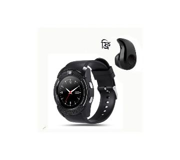 V8 Smart Watch With Mini Wireless Bluetooth