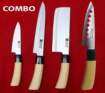 Kitchen Knife & Chapati Combo Pack (4 Pcs)