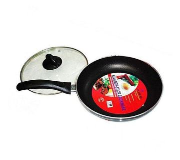 KIAM Non Stick Fry Pan With Glass Lid (Size: 26cm)