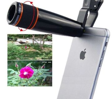 12x Telephoto Mobile Phone Optical Zoom Telescope Lens  Chg