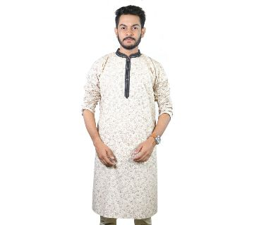 Cotton Casual Semi Long Panjabi For Men - bm88-22 (Gray)